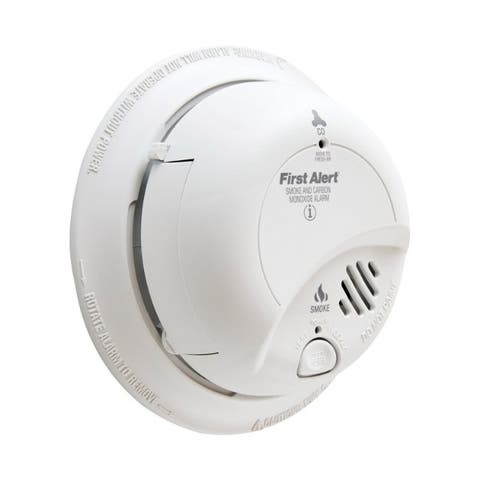BRK Hard-Wired with Battery Back-up Electrochemical Smoke and Carbon Monoxide Alarm 6 pk