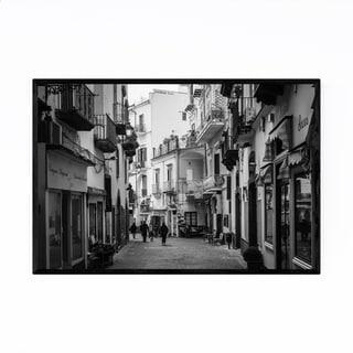 Noir Gallery Black & White Amalfi Coast Italy Framed Art Print
