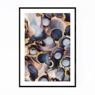 Noir Gallery Abstract Alcohol Ink Painting Framed Art Print