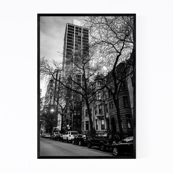Noir Gallery Chicago Gold Coast Street Framed Art Print