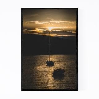 Noir Gallery Repvag Norway Harbor Sunset Framed Art Print