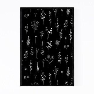 Noir Gallery Ink Wildflower Floral Pattern Framed Art Print