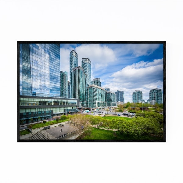 Noir Gallery Downtown Toronto City Park Framed Art Print
