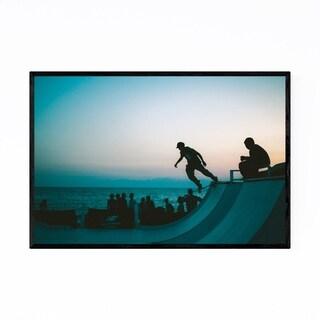 Noir Gallery Skateboarding Photo Japan Urban Framed Art Print