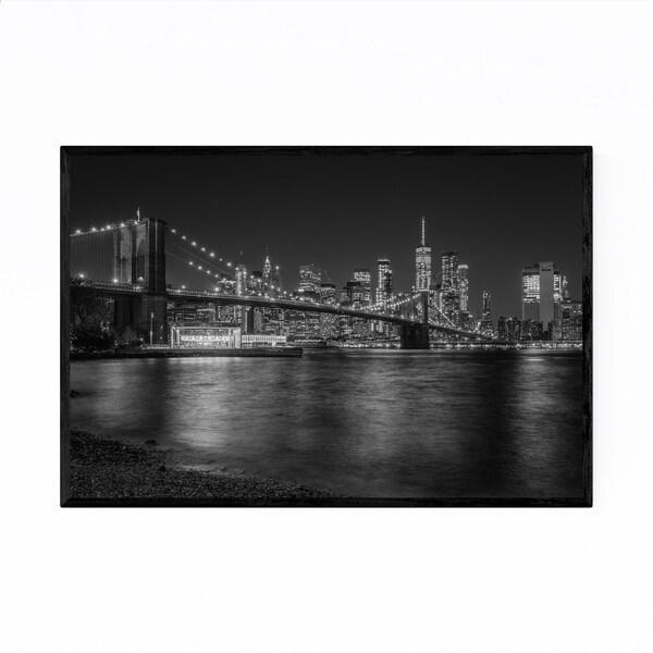 Noir Gallery Black White New York Skyline NYC Framed Art Print