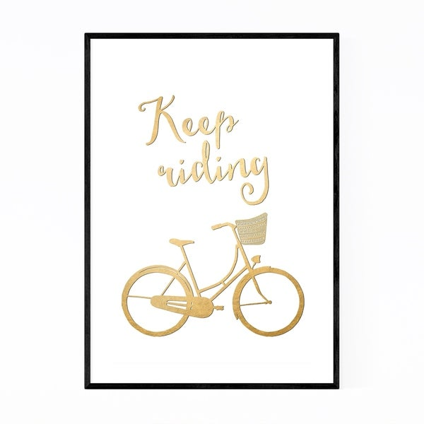 Noir Gallery Bicycle Gold Inspirational Framed Art Print