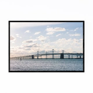 Noir Gallery Chesapeake Bay Bridge Maryland Framed Art Print