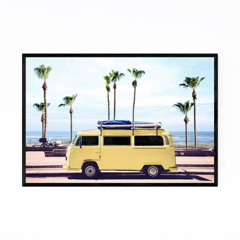 Noir Gallery VW Van California Surf Photo Framed Art Print