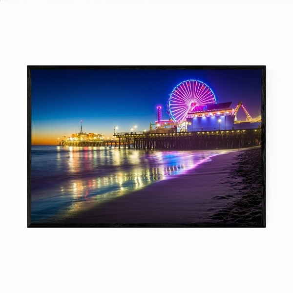 Noir Gallery California Santa Monica Pier Framed Art Print