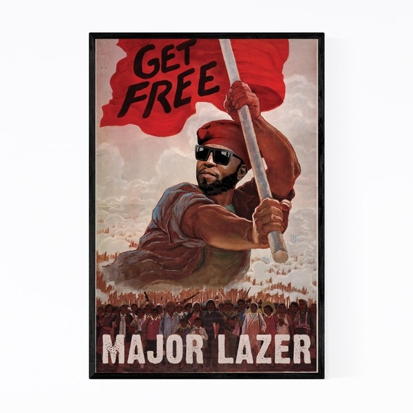 Noir Gallery Major Lazer Music Get Free EDM Framed Art Print