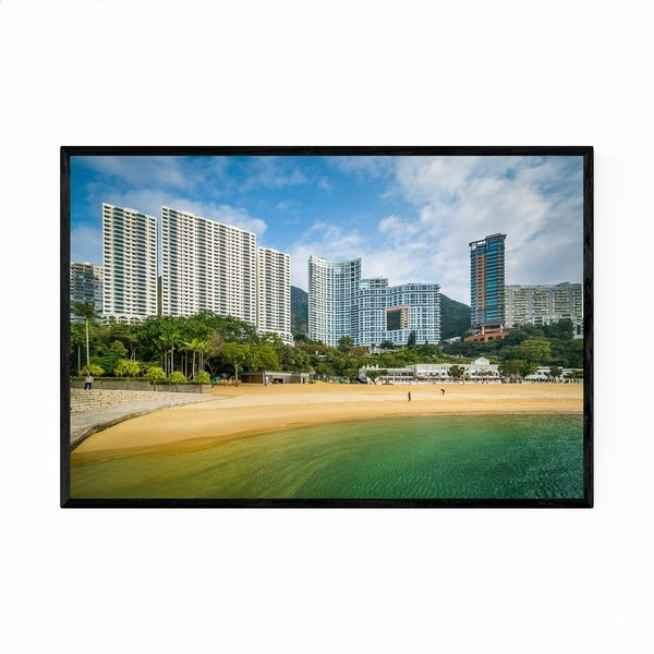 Noir Gallery Hong Kong Repulse Bay Skyline Framed Art Print