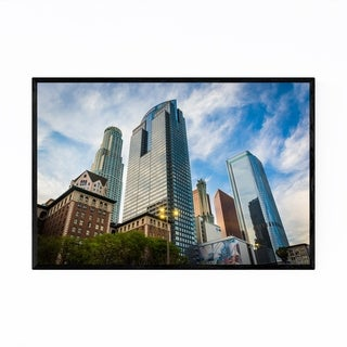 Noir Gallery Downtown Los Angeles Cityscape Framed Art Print