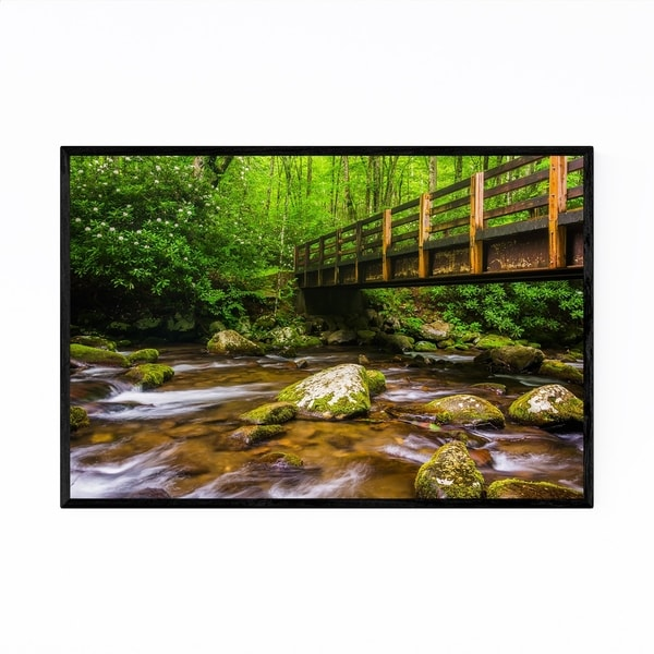 Noir Gallery Great Smoky Mountains Bridge Framed Art Print
