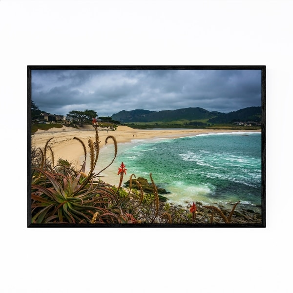 Noir Gallery Carmel California Beach Nature Framed Art Print