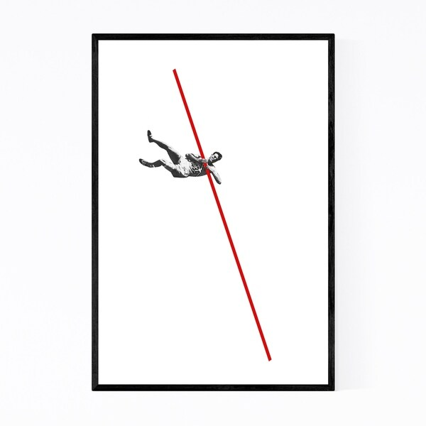 Noir Gallery Abstract Vintage Pole Vaulter Framed Art Print