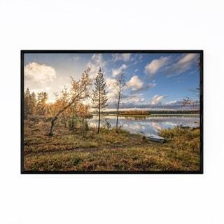 Noir Gallery Lapland Finland Lake Landscape Framed Art Print