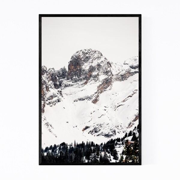 Noir Gallery French Alps Mountains Winter Framed Art Print