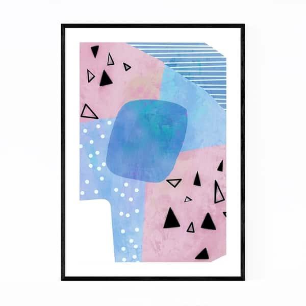 Shop Noir Gallery Abstract Geometric Shapes Framed Art Print