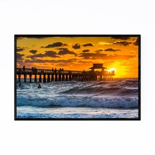Porch & Den Naples, Florida Beach Sunset' Framed Art Print