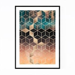 Noir Gallery Art Deco Digital Geometric Shape Framed Art Print