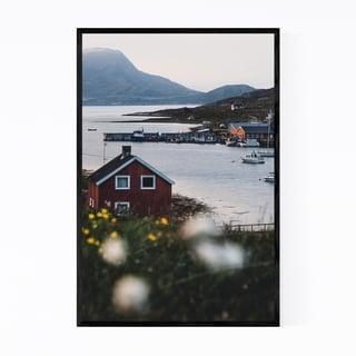 Noir Gallery Repvag Norway Harbor House Framed Art Print
