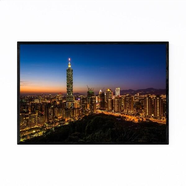 Noir Gallery Taipei 101 Taiwan City Skyline Framed Art Print