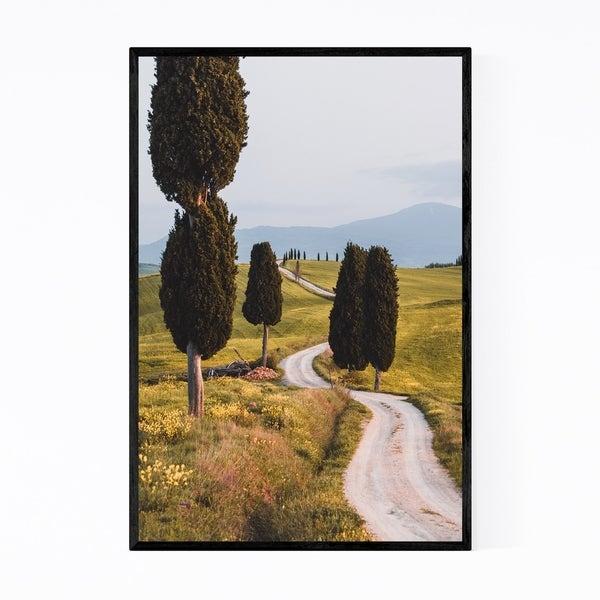 Noir Gallery Tuscany Italy Road Landscape Framed Art Print
