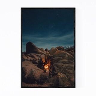 Noir Gallery Desert Camping California Fire Framed Art Print