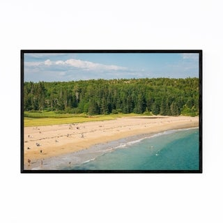 Noir Gallery Acadia National Park Maine Beach Framed Art Print