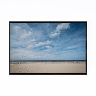 Noir Gallery Delaware Lewes Beach Coastal Framed Art Print
