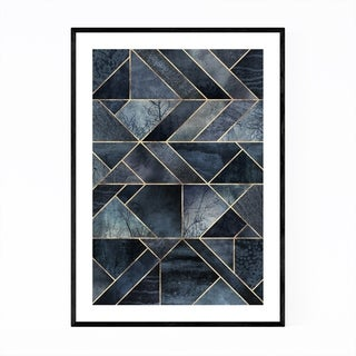Noir Gallery Black Abstract Nature Geometric Framed Art Print