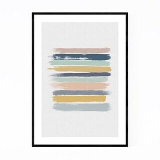 Noir Gallery Pastel Abstract Minimal Painting Framed Art Print