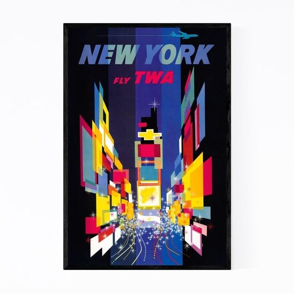 Noir Gallery Fly TWA New York Retro Poster Framed Art Print