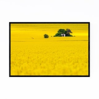 Noir Gallery Bulgaria Yellow Fields Landscape Framed Art Print