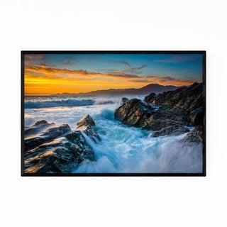 Noir Gallery San Francisco Baker Beach Sunset Framed Art Print
