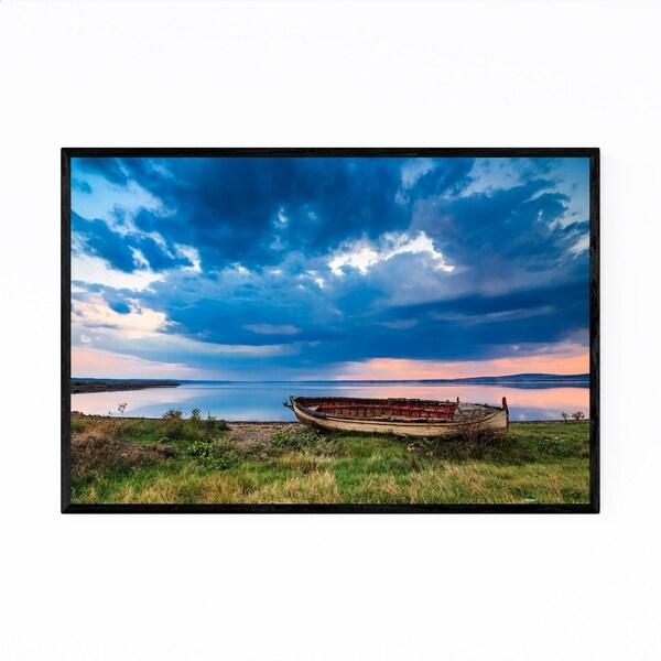 Noir Gallery Bulgaria Lake Landscape Nature Framed Art Print