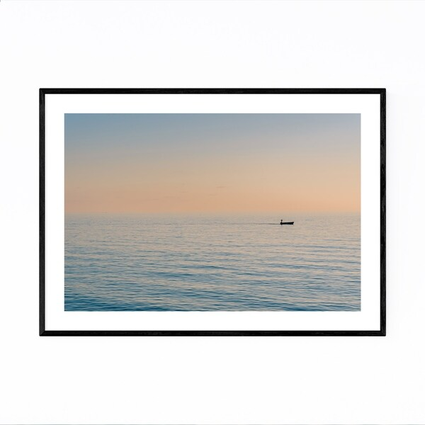 Noir Gallery Coastal Beach Ocean Sunset Framed Art Print