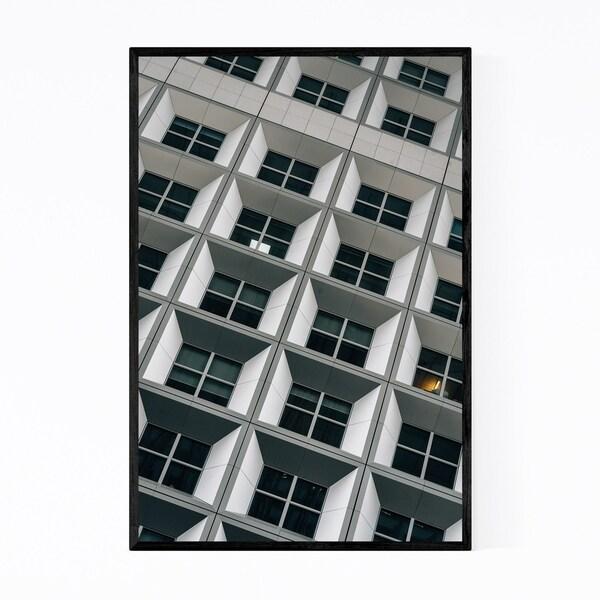 Noir Gallery Modern Architecture Paris France Framed Art Print