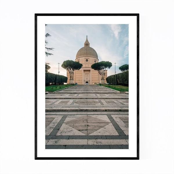 Noir Gallery Rome Italy Architecture Photo Framed Art Print