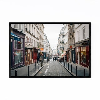 Noir Gallery Street Montmartre Paris France Framed Art Print