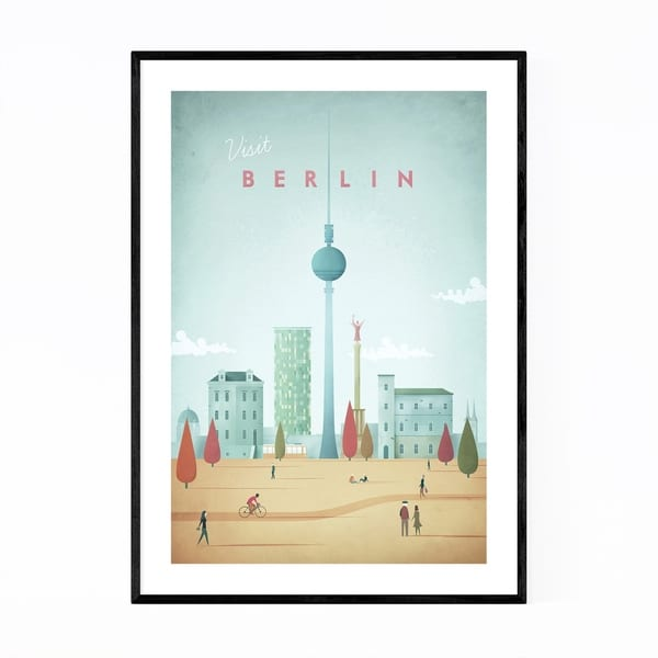 Noir Gallery Minimal Travel Poster Berlin Framed Art Print