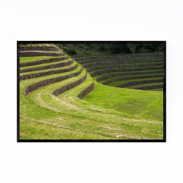 Noir Gallery Inca Terraces Moray Cusco Peru Framed Art Print