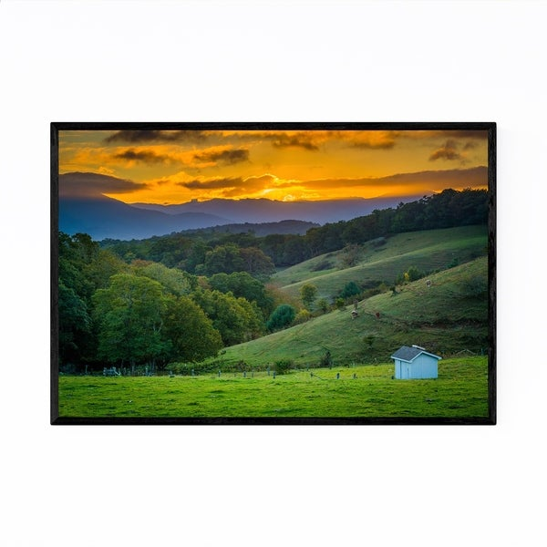 Noir Gallery Blue Ridge Parkway NC Landscape Framed Art Print