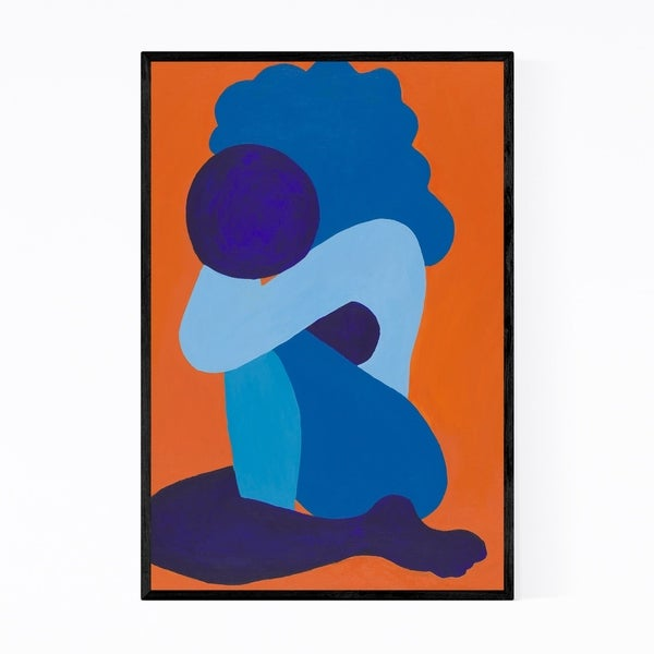 Noir Gallery Abstract Afro Woman Painting Framed Art Print