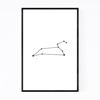 Noir Gallery Minimal Leo Astrology Zodiac Framed Art Print