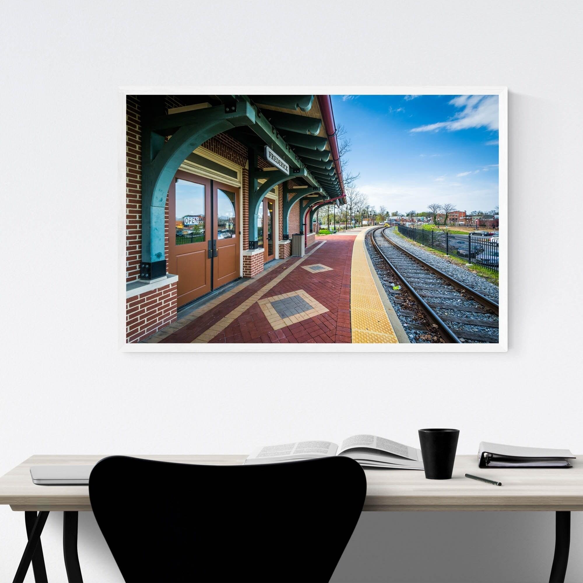 Shop Noir Gallery Frederick Maryland Train Station Framed Art