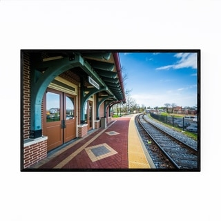 Noir Gallery Frederick Maryland Train Station Framed Art Print