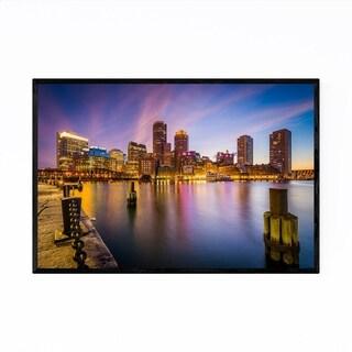 Noir Gallery Boston Skyline Cityscape Photo Framed Art Print
