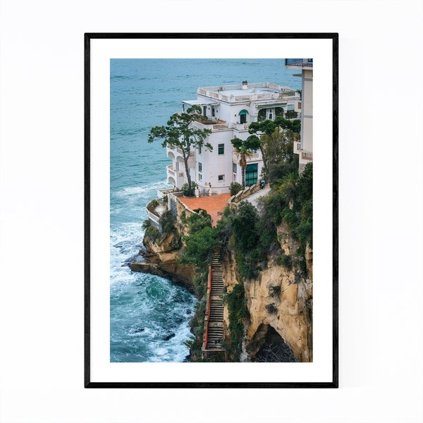 Noir Gallery Naples Italy Coastal Posillipo Framed Art Print