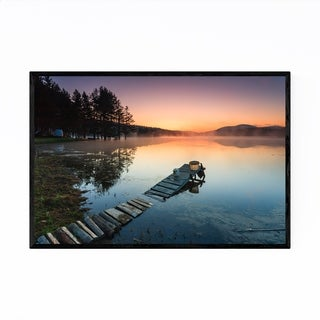 Noir Gallery Bulgaria Mountain Lake Landscape Framed Art Print